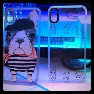 2 Casetify French Bulldog cases